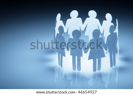 People abstract - stock photo