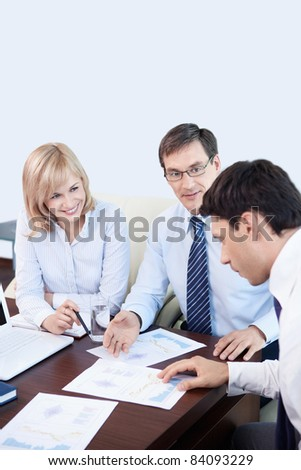 People are working in an office - stock photo