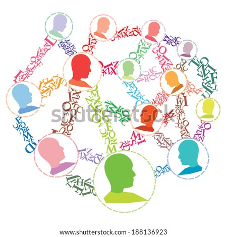 People as a Viral Marketing tool - stock photo