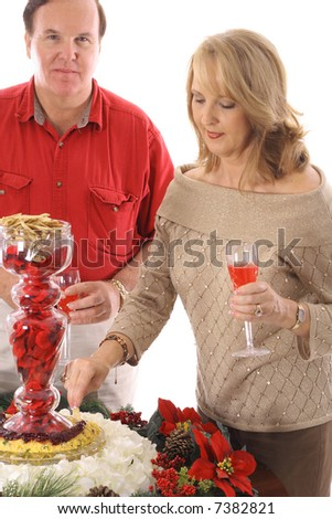 people at a holiday party - stock photo