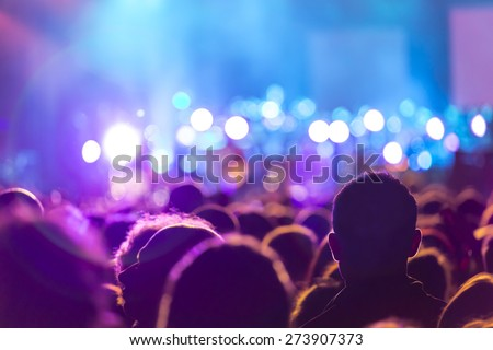 People at the concert - stock photo
