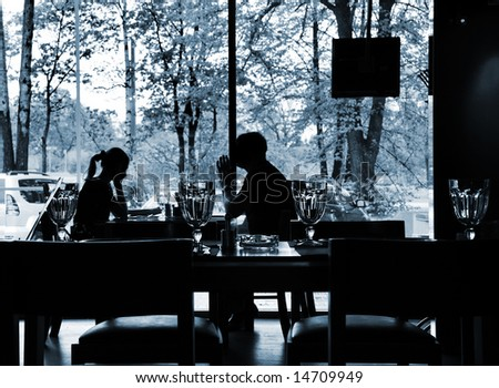 People at the restaurant - stock photo