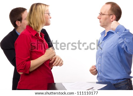 People by divorce lawyer - stock photo