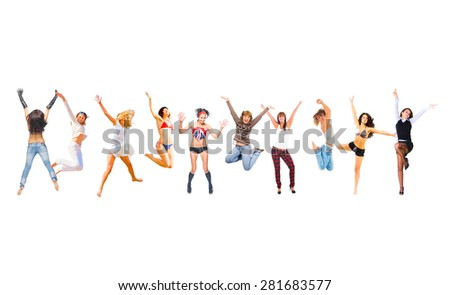People Celebrating United Colleagues  - stock photo