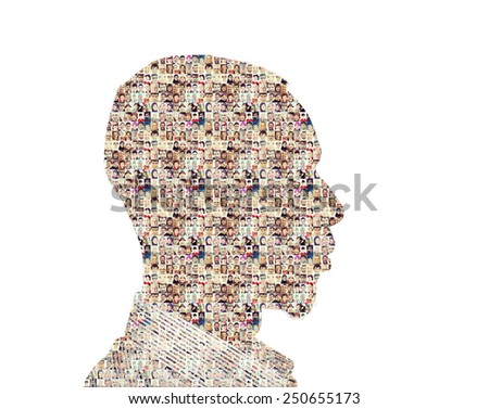 People collage concept - stock photo