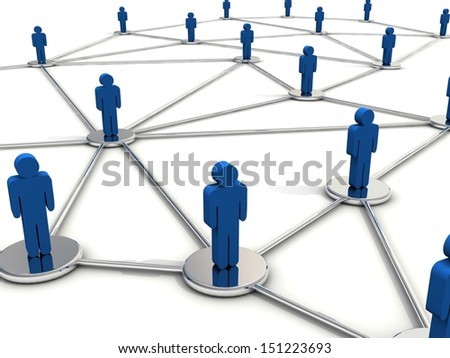 People connection concept.  - stock photo