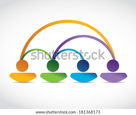 people connection illustration design over a white background - stock photo