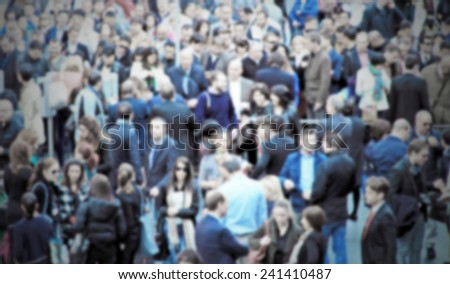 People crowd background. Intentionally blurred background. - stock photo