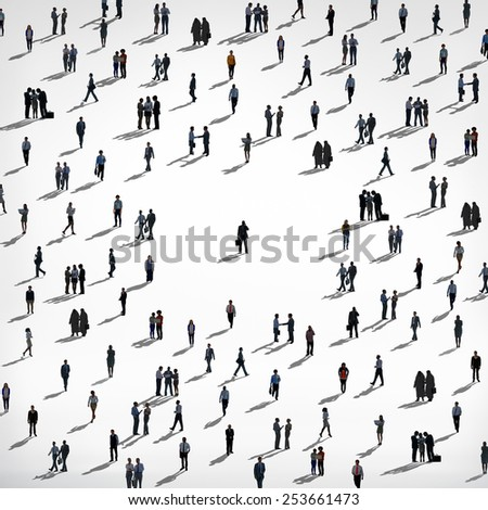 People Crowd Community Concept - stock photo