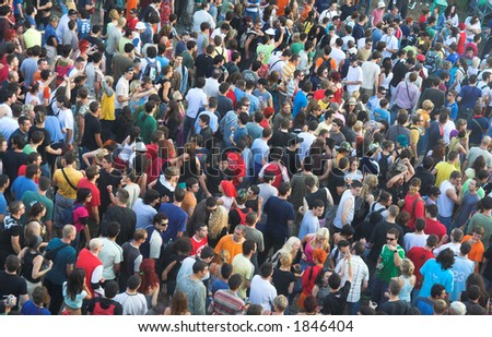 People crowd texture.People background - stock photo