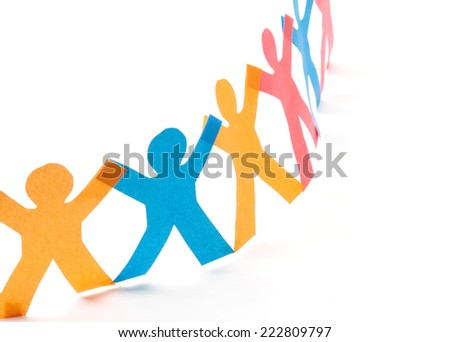 people cut out of paper - stock photo