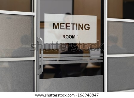 People in a Meeting Room - stock photo