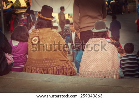 People  in Bolivia - stock photo