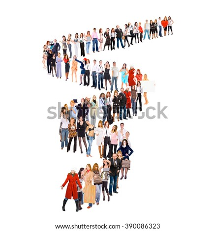People in Queue Waiting for their Turn  - stock photo