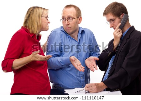 People in service industry - stock photo