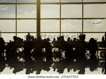 People in the airport - stock photo