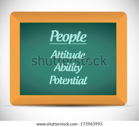 people keys on a chalkboard. illustration design over a white background - stock photo