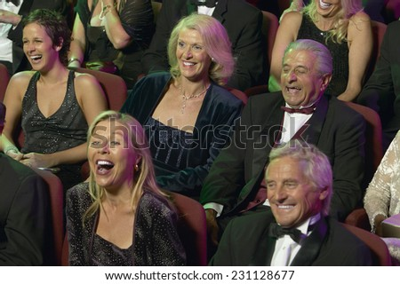 People Laughing at the Theater - stock photo