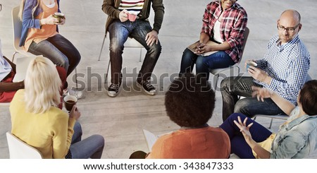 People Meeting Communication Talking Counselor Concept - stock photo