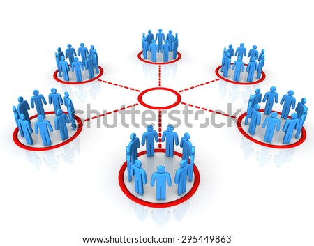 people network connection - stock photo