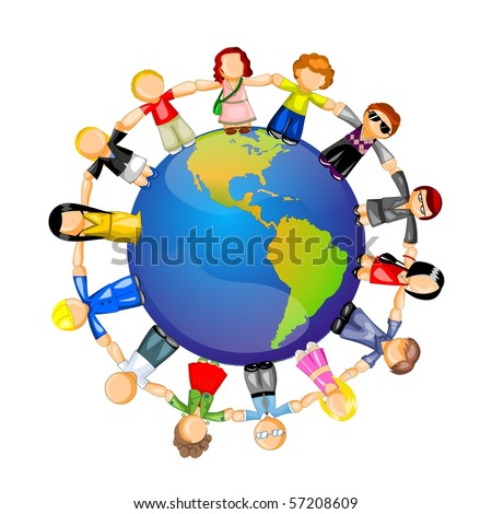 People of different professions around the world. - stock photo