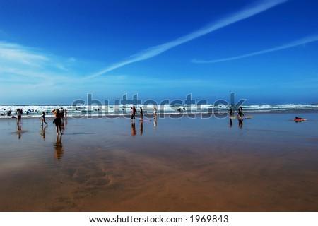People on a beach - stock photo