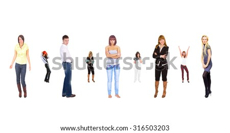People Order Standing Together  - stock photo
