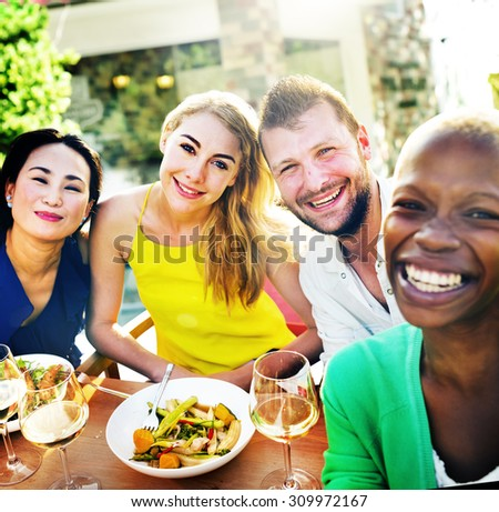 People Party Friendship Togetherness Happiness Concept - stock photo
