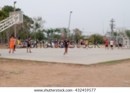 People play basketball ,blurred background - stock photo