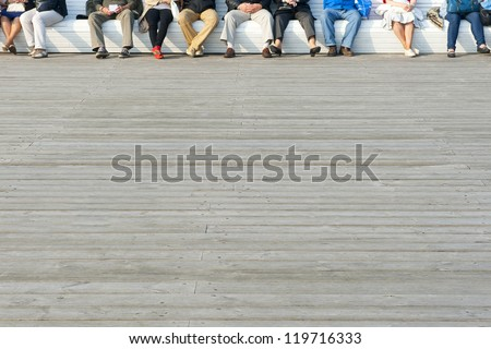 People relaxing - stock photo