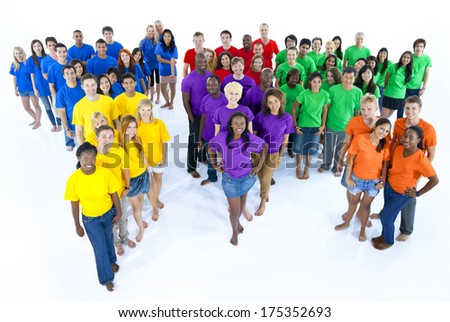 People Representing the Continents - stock photo