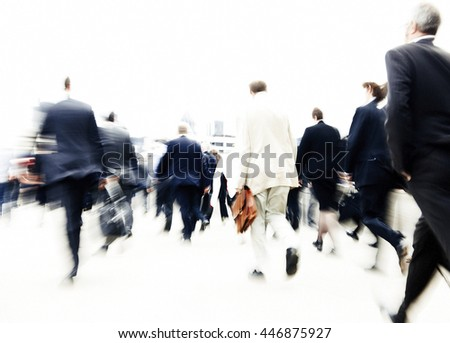 People Rushing to Work Commuters Concept - stock photo