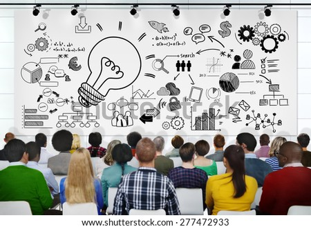 People Seminar Vision Creativity Planning Tactic Ideas Concept - stock photo