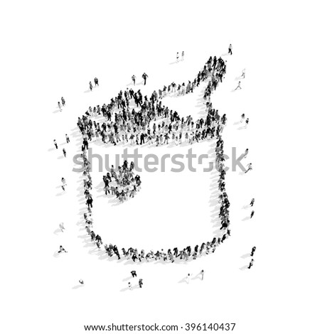 people  shape  bucket  champagne - stock photo