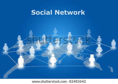 People social network communication. - stock photo