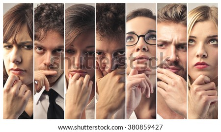 People thinking - stock photo
