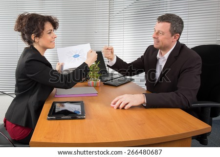 People tries to find a new strategy - stock photo