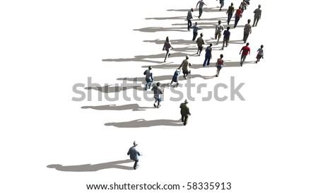 people walking - stock photo