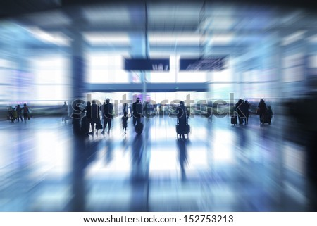 people walking out of train station - stock photo