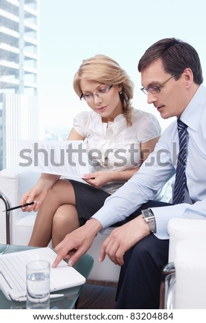 People working in the office - stock photo