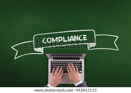 PEOPLE WORKING OFFICE COMMUNICATION  COMPLIANCE TECHNOLOGY CONCEPT - stock photo