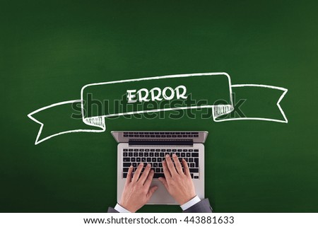 PEOPLE WORKING OFFICE COMMUNICATION  ERROR TECHNOLOGY CONCEPT - stock photo