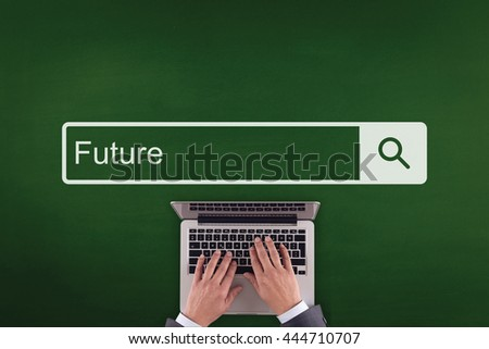 PEOPLE WORKING OFFICE COMMUNICATION  FUTURE TECHNOLOGY SEARCHING CONCEPT - stock photo