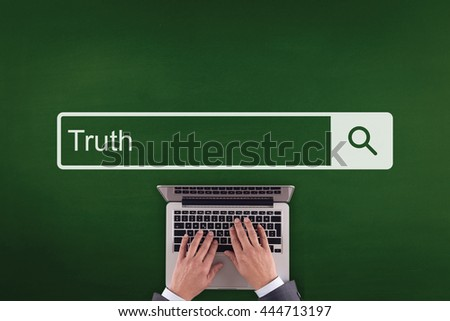 PEOPLE WORKING OFFICE COMMUNICATION  TRUTH TECHNOLOGY SEARCHING CONCEPT - stock photo