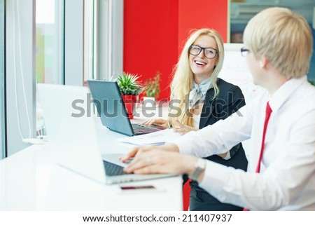people working together - stock photo