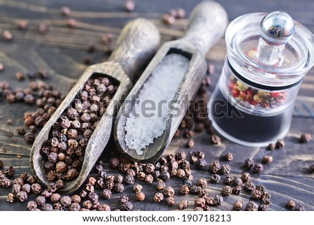 pepper and salt - stock photo