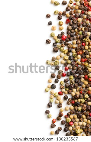 pepper spice on white background - stock photo