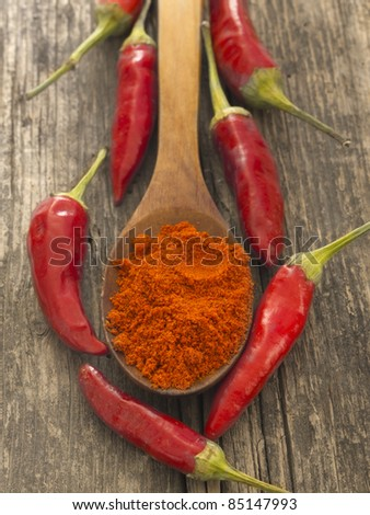 pepper spice with fresh vegetables - stock photo