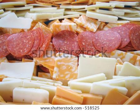 Pepperoni Platter - stock photo