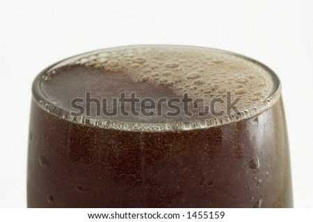 pepsi in the glass close up - stock photo